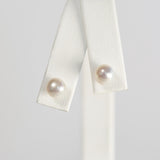 White Simple Pearl Earrings