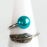 Sterling Silver Vintage Feather Ring