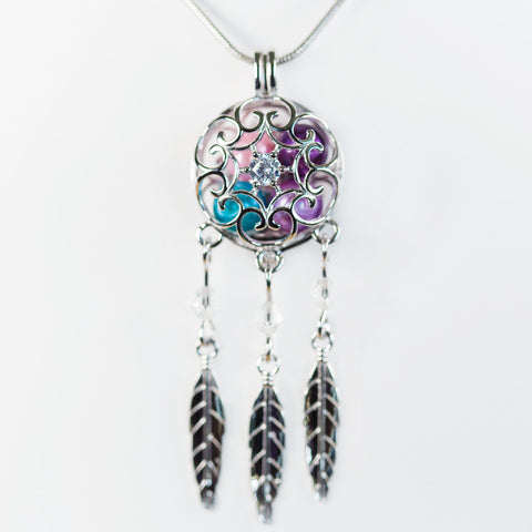 Sterling Silver Dreamcatcher Cage Pendant