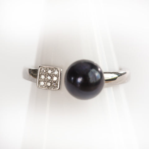 Sterling Silver Checker Ring
