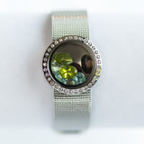 Watch Style Gemstone Locket Bracelet