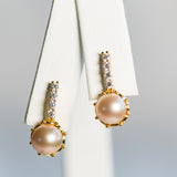 Gold Plated Sterling Silver Pendulum Earrings