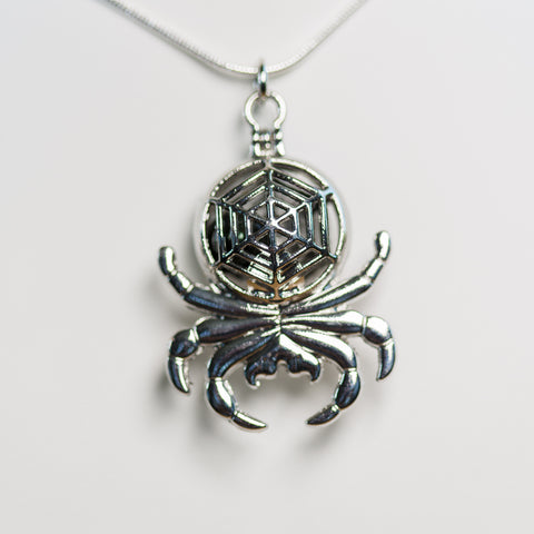 Silver Plated Spider Cage Pendant
