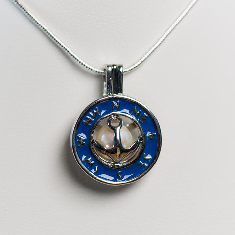 Silver Plated Compass Cage Pendant