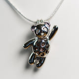 Silver Plated Teddy Cage Pendant