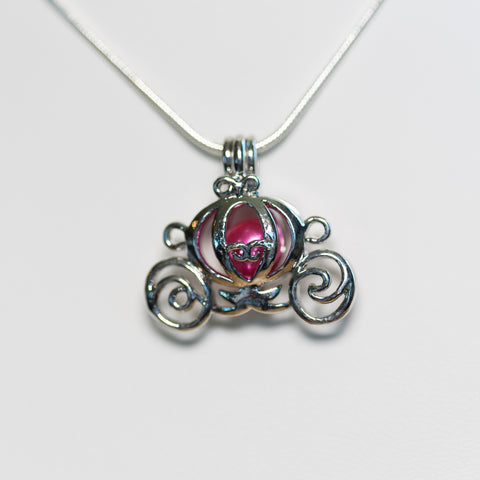 Silver Plated Carriage Cage Pendant