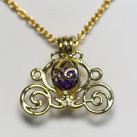 Gold Plated Carriage Cage Pendant