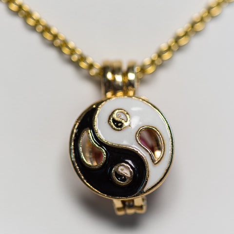 Gold Plated Yin Yang Cage Pendant