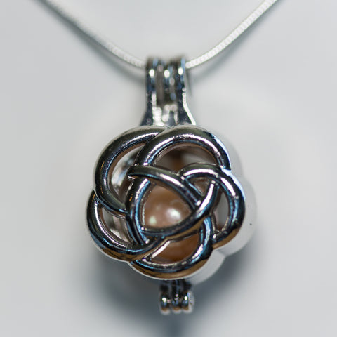 Silver Plated Edison Bloom Cage Pendant