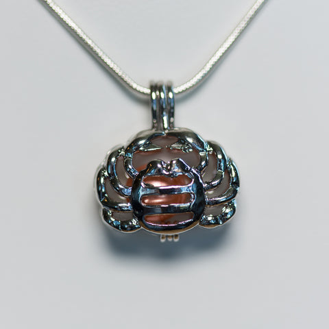 Silver Plated Cancer Cage Pendant