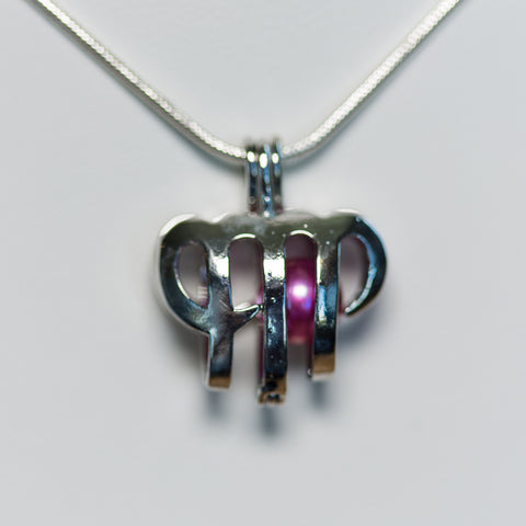 Silver Plated Virgo Cage Pendant