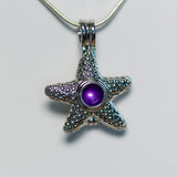 Silver Plated Royal Starfish Cage Pendant