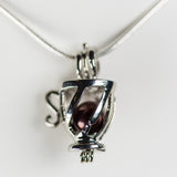 Silver Plated Teacup Cage Pendant