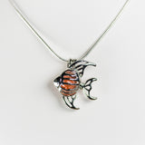 Silver Plated Tropical Fish Cage Pendant