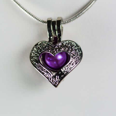 Silver Plated Love Cage Pendant