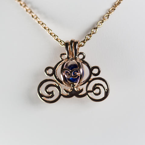 Rose Gold Plated Carriage Cage Pendant