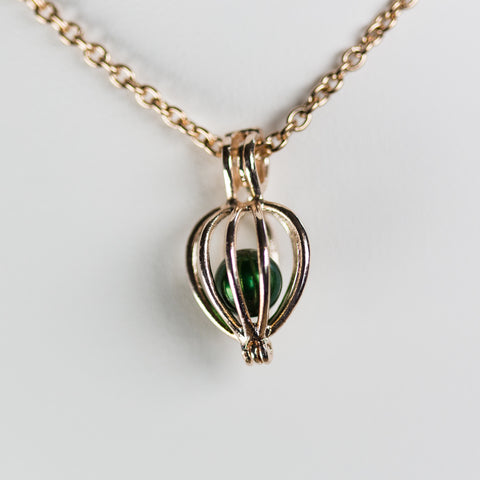 Rose Gold Plated Bulb Cage Pendant