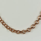 Rose Gold Plated Stainless Steel Lobster Clasp Chain