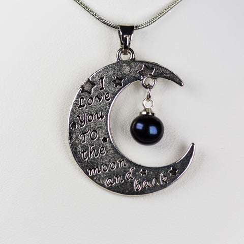 Silver Plated Moon Pendant