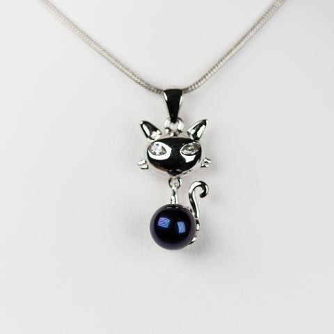 Sterling Silver Feisty Kitten Pendant