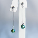 Sterling Silver Descending Earrings