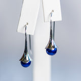 Blow Out- Bluebell Earrings and Pearls