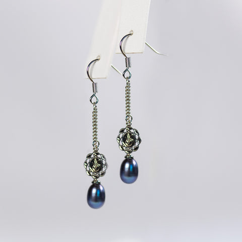 Black Posh Out Earrings