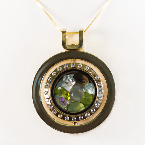 Prestige Spinning Gemstone Locket