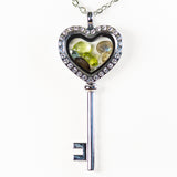 Premium Skeleton Key Gemstone Locket