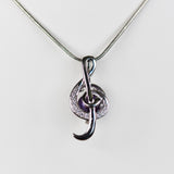 Sterling Silver Music Note Cage Pendant