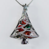 Sterling Silver Christmas Tree Cage Pendant