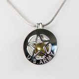 Sterling Silver United States Army Cage Pendant