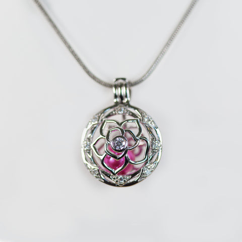 Sterling Silver Petals Cage Pendant
