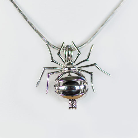Sterling Silver Spider Cage Pendant
