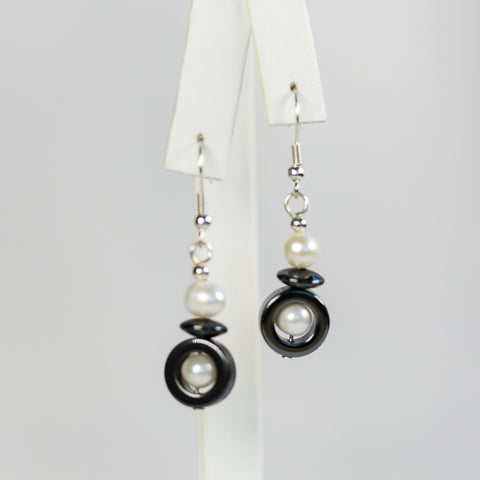 Single Hematite Earrings