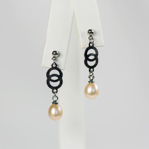 Peach Double Loop Earrings