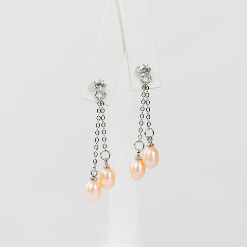 Peach Elegant Earrings