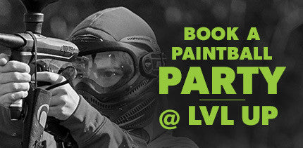 Book a LVL Up Sports Paintball Party
