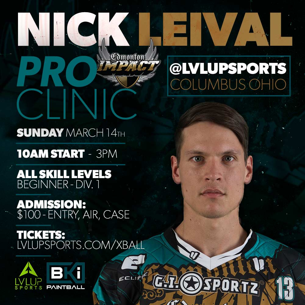 Nick Leival PRO Clinic Sunday March 14th 2021