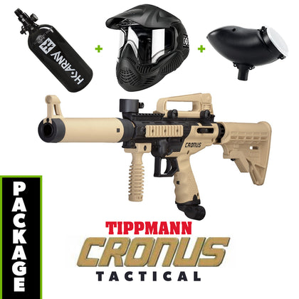 Cronus Tactical - Tan / Black COMBO Package with Tank, Hopper, Goggle