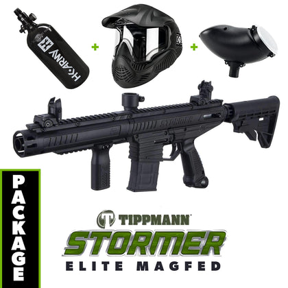 Tippmann Stormer - ELITE Magfed Edition COMBO Package with Tank, Hopper, Goggle