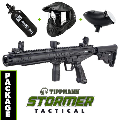 Tippmann Stormer - TACTICAL Edition COMBO Package with Tank, Hopper, Goggle