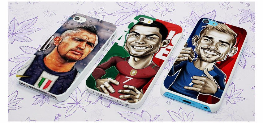 phone cases juventus ronaldo griezmann messi vidal portugal