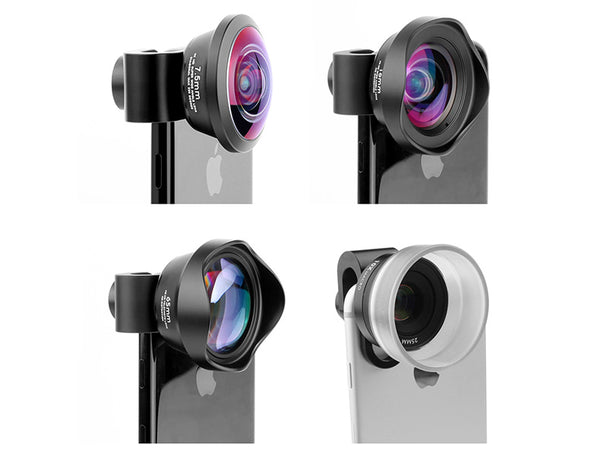 4-in-1 Smartphone Camera Lens Kit Marco/Fish Eye/Telephoto/Wide Angle
