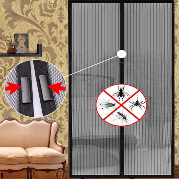 Magic Handsfree Anti-Mosquito Door Mesh Curtain with Magnets