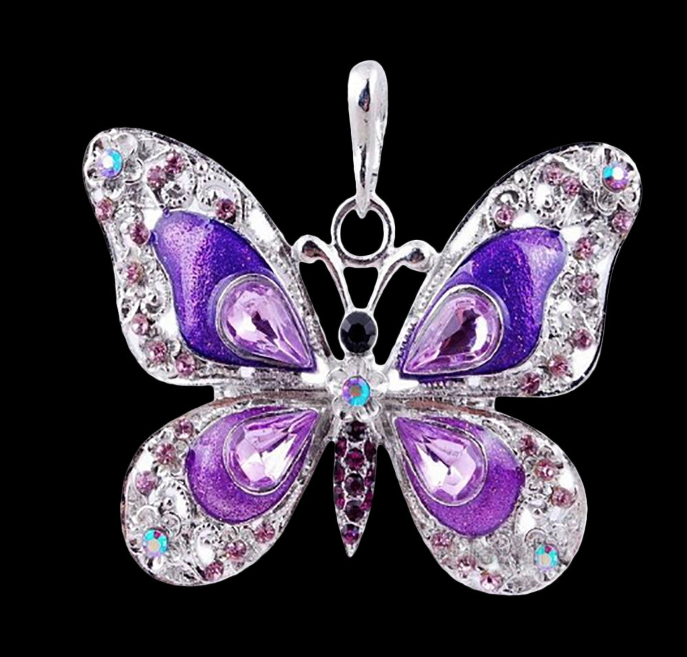 3a8e62fb0a7bf6 Beautiful Butterfly Necklaces – Noah s Ark Inc