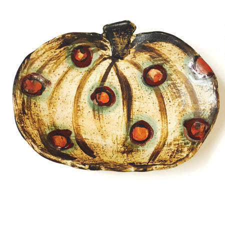 Etta B Medium Pumpkin Appetizer Plate