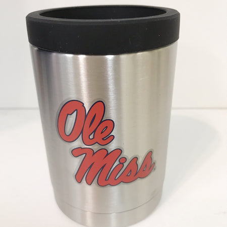 Ole Miss Stainless Steel can/bottle Jacket
