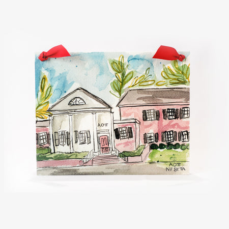 Sorority House Print with ribbon for hanging