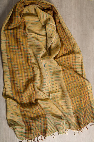 Traditional Kantha Pure silk scarf
